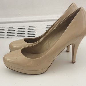 Aldo Shoes - Patent leather Aldo nude heels/platforms